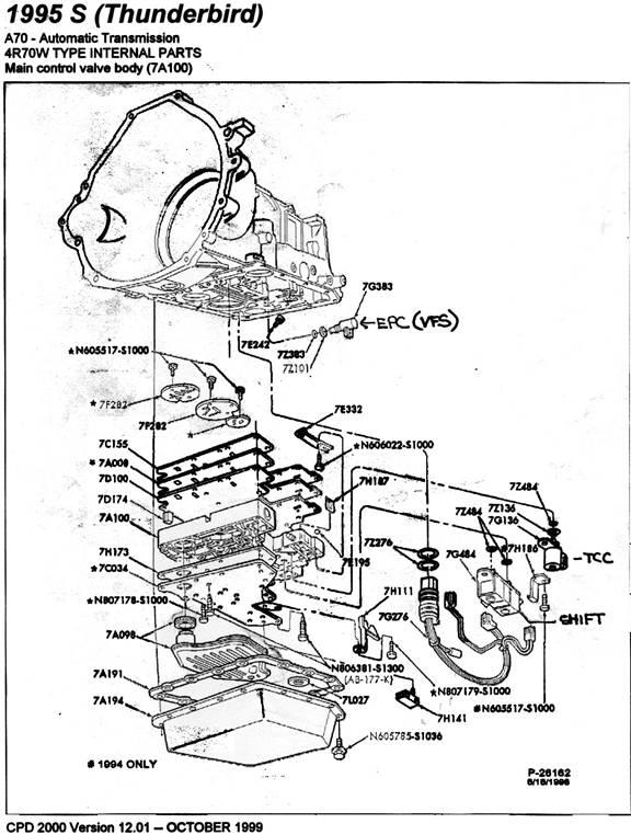 ford aode transmission wiring diagram 4r100 transmission