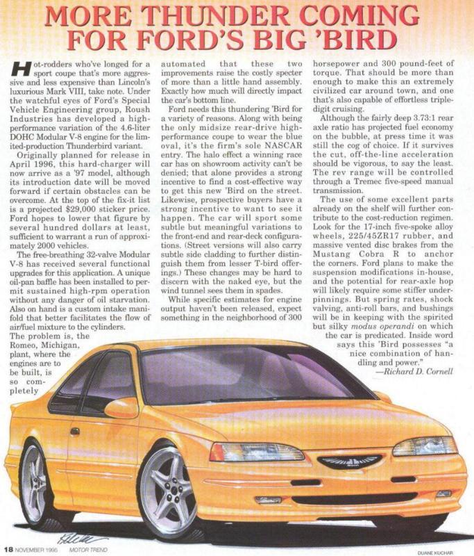 1996 Ford Thunderbird Transmission: SVT Thunderbird A Reality?